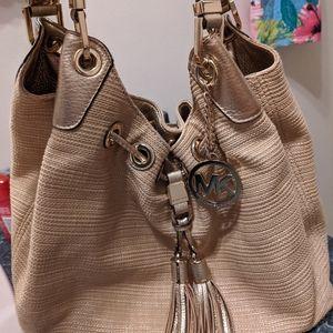 Michael Kors woven and leather bag